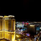 The Strip, Palazzo Hotel, at night Las Vegas, Nevada, USA by PhotoStock-Isra