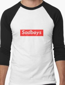 Sadboys Box Logo (L) - SADBOYS & YUNG LEAN Men's Baseball ¾ T-Shirt