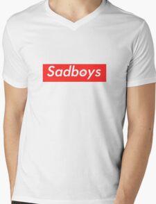 Sadboys Box Logo (L) - SADBOYS & YUNG LEAN Mens V-Neck T-Shirt