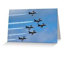 Breitling air display team L-39 Albatross Greeting Card