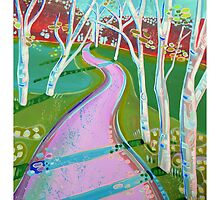 Path of Silver Birches by Emily  Garces