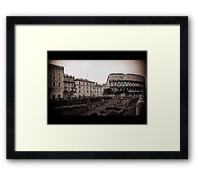 Rome, the Flavian Amphitheatre Framed Print