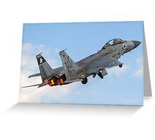 Israeli Air force (IAF) Fighter jet F-15 (BAZ) in flight Greeting Card