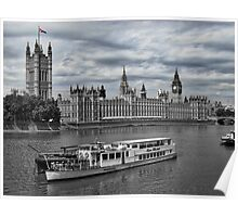 Cruising the Thames Poster
