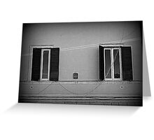 Two windows on the wall Greeting Card