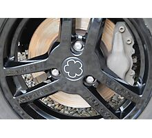 Mia Electric Wheel detail Photographic Print