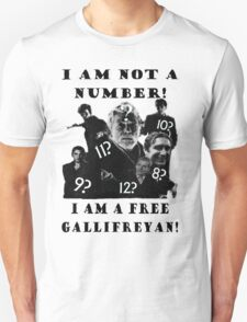 The Prisoner meets Dr Who, Numbers aren't everything T-Shirt