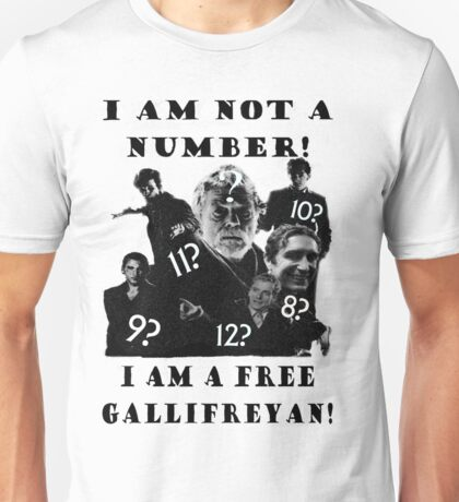 The Prisoner meets Dr Who, Numbers aren't everything Unisex T-Shirt
