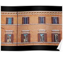 Beautiful facade with windows Poster