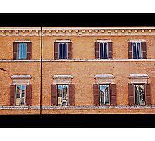 Beautiful facade with windows Photographic Print