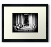 St Paul's Basilica, the colonnade Framed Print