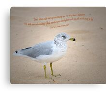 Seagull Says Canvas Print
