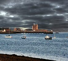 Stormy Sky Broughty Ferry, Scotland.  by Forfarlass