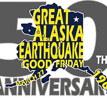 5OTH ANNIVERSARY GREAT ALASKA EARTHQUAKE W DIPPER by Ed Rosek