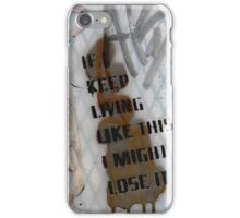 Graffiti text on window iPhone Case/Skin