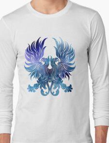 Gray Warden glaxy crest Long Sleeve T-Shirt