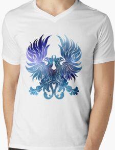 Gray Warden glaxy crest Mens V-Neck T-Shirt