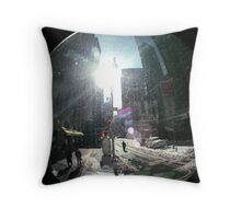 New York Fisheye  Throw Pillow