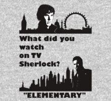 Sherlock meets Elementary  Kids Tee