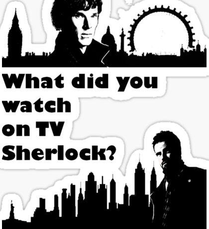 Sherlock meets Elementary  Sticker