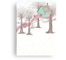 Snowy Treehouse1 Canvas Print