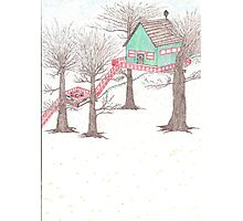 Snowy Treehouse1 Photographic Print