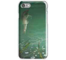 Submerged photographer in waterland iPhone Case/Skin