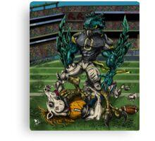 Seahawks vs Broncos Canvas Print