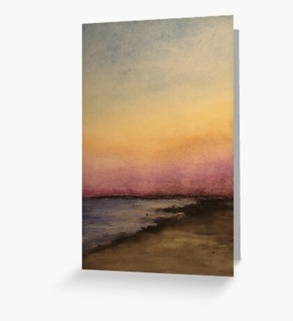Slight Abstract (Beach) Greeting Card