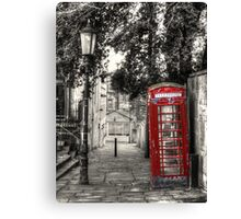 Telephone Box in alleyway Canvas Print