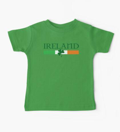 Ireland Flag, shamrock Baby Tee