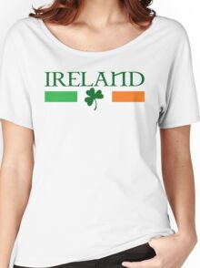 Ireland Flag, shamrock Women's Relaxed Fit T-Shirt