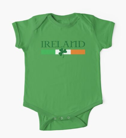 Ireland Flag, shamrock One Piece - Short Sleeve