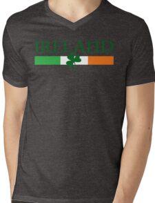 Ireland Flag, shamrock Mens V-Neck T-Shirt