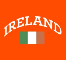 Arched Ireland with flag Kids Clothes