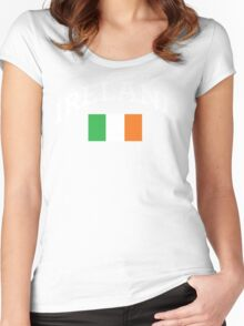 Arched Ireland with flag Women's Fitted Scoop T-Shirt