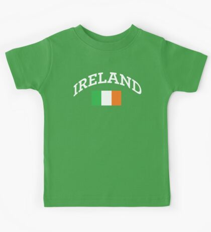 Arched Ireland with flag Kids Tee