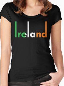 Ireland pop art Women's Fitted Scoop T-Shirt
