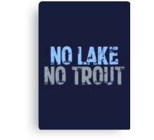 The Wire - No Lake, No Trout Canvas Print