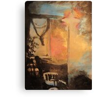 Home (blue, gold) Canvas Print