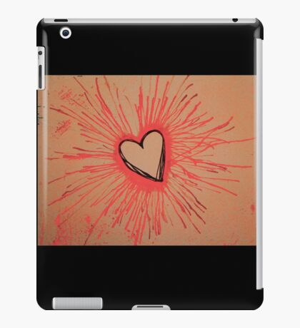Exploding Heart Pink iPad Case/Skin