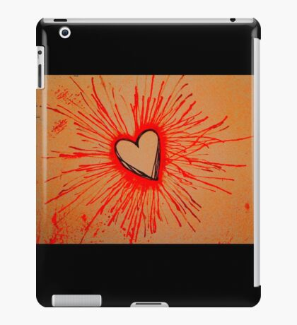 Exploding  Heart Red iPad Case/Skin