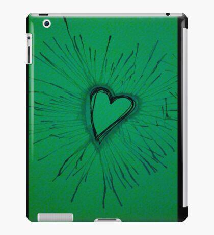 Green Exploding Heart iPad Case/Skin