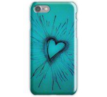 Light Blue Exploding Heart iPhone Case/Skin