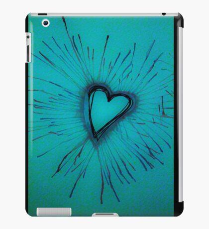 Light Blue Exploding Heart iPad Case/Skin