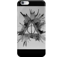 Black and White Exploding Deathly Hallows iPhone Case/Skin