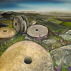 Millstones near Stanage Edge by Emily  Garces