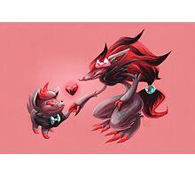 Pokemon - Zorua & Zoroark Valentines Photographic Print