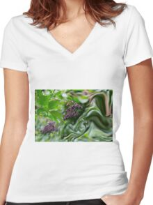 Delicate Abstract Women's Fitted V-Neck T-Shirt
