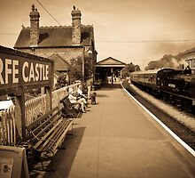 Corfe Station by Richard Hepworth